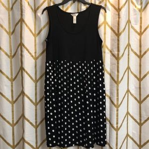 Black & White Polka Dot Maternity Dress